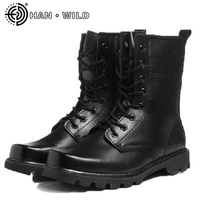Men Steel Toe Work Shoes Military Army Safety Boots Men's Leather Military Desert Tactical Boot Male Combat Boots Ankle Boots