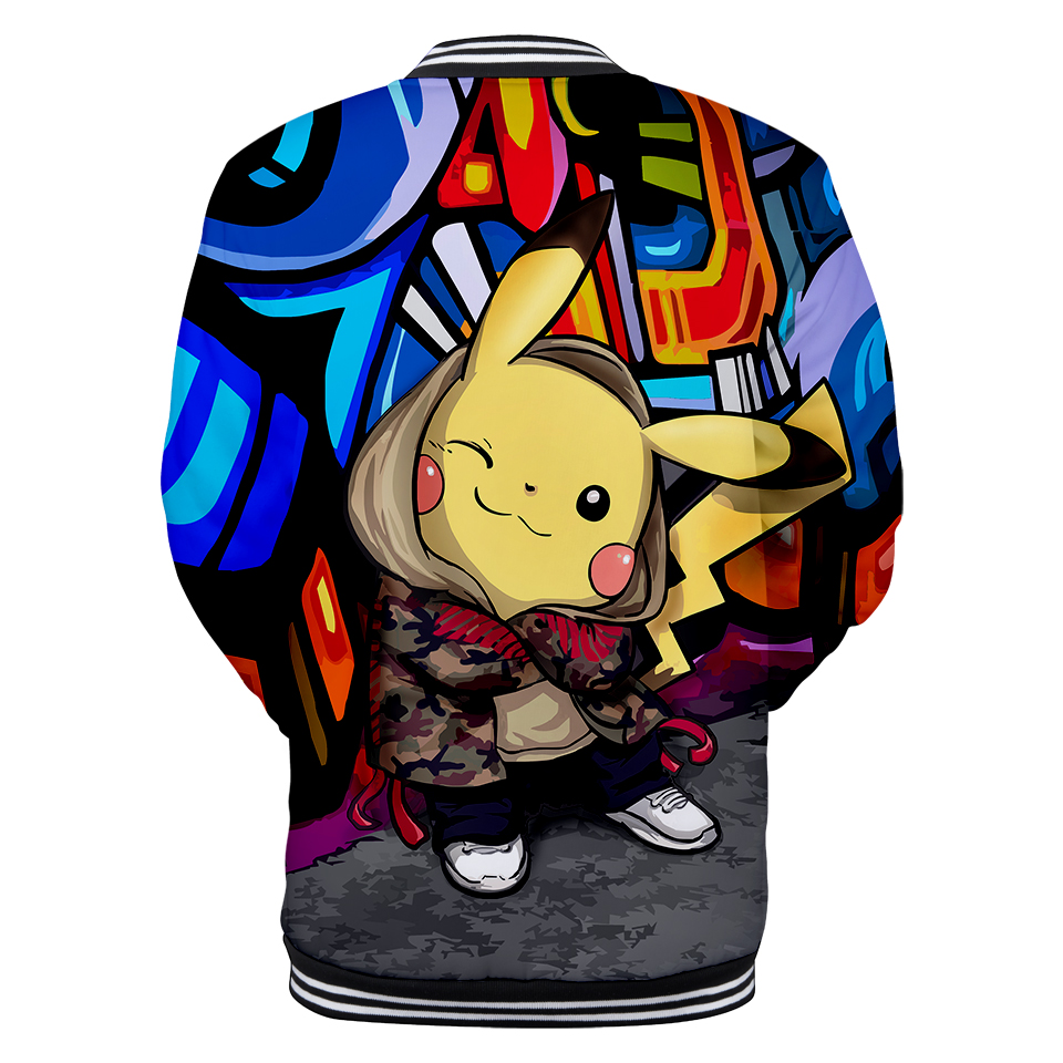 LUCKYFRIDAYF 3D Pikachu hot Baseball Jacket Men Anime Popular New Fashion Women men Cartoon Winter Autumn Plus Size XXS 4XL in Jackets from Men 39 s Clothing