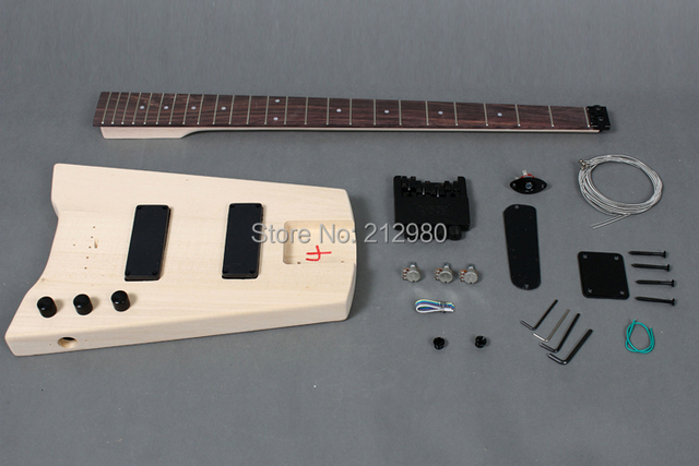 4 strings headless electric guitar bass diy kit gk shb 10 in guitar from sports entertainment. Black Bedroom Furniture Sets. Home Design Ideas