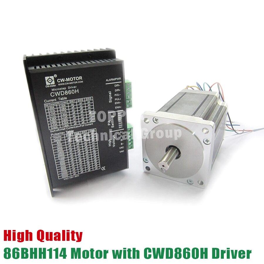 86BHH114 500A32E Stepper Motor 86 motor NEMA34 Stepper Motor with CWD860H driver CNC Laser Grind Foam