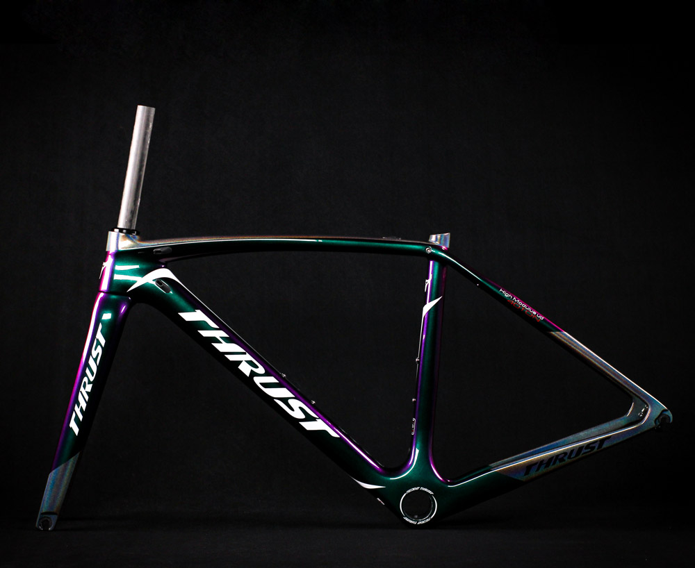 Carbon Road Bicyle Frame 700c V Brake Full Carbon Bike Frame New Design Chameleon Color 49 52 54 56 58cm 2 Year Warranty thrust(China)