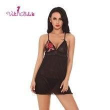 fea6f9bac Vali Belo Quente sexy roupa interior das mulheres sexy lingerie camisola  perspectiva rendas borda flor de