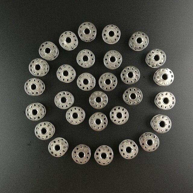 Hoge Kwaliteit 20 STKS Metalen Spoelen Spoel Naaien Craft Tool Rvs Naaimachine Klossen Spool voor Brother Janome Singer