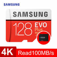 SAMSUNG tarjeta de Memoria sd micro GB 32GB 64GB 128GB 256GB 512GB EVO Plus de Class10 impermeable TF Memoria Sim tarjeta para teléfonos inteligentes