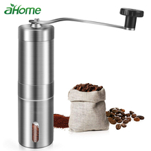 Stainless Steel Manual Coffee Beans Grinder Adjustable Ceramic Core Home washable Portable Coffee Mills  Conical Burr Mill portable washable manual brushed stainless steel coffee grinder with conical burr mill