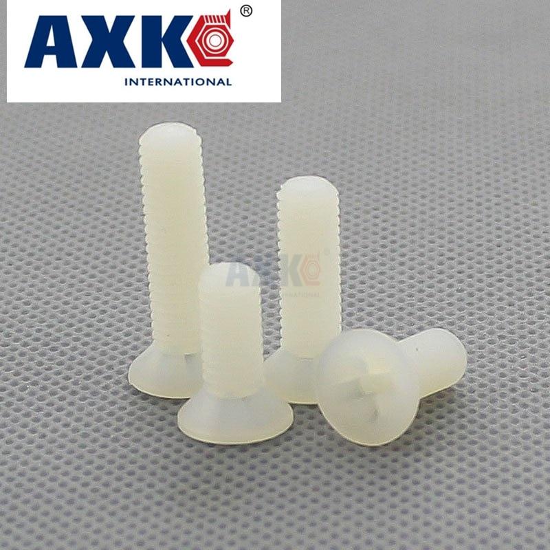 Axk 50pcs M2.5 M3 M4 M5 Nylon Plastic Countersunk Head Phillips Socket Screw накладки на ручки fulajimi m3 m5