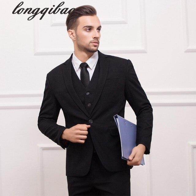 Online Shop 2017 Famous Brand Mens Suits Wedding Groom Plus Size ...