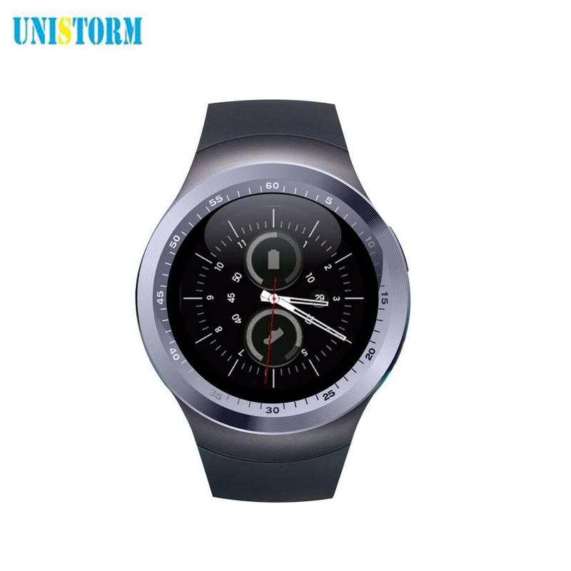 UNISTORM Reloj Inteligente Y1 Apoyo Nano SIM y Tarjeta de TF Con Whatsapp Y Face