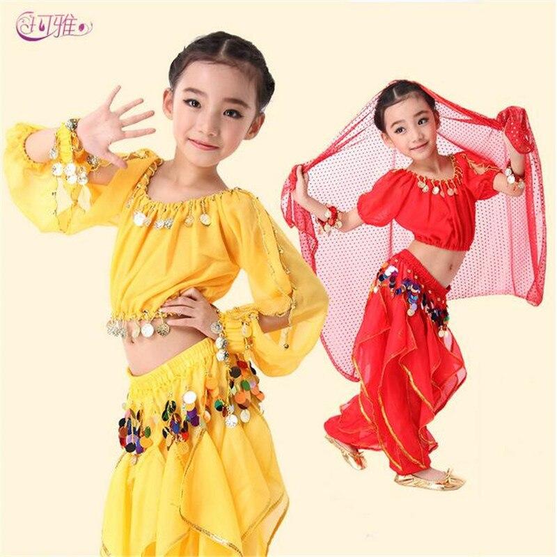 d2290d130 Wholesale Children Dancewear Color Sequins Fringe Pants Tops Set ...