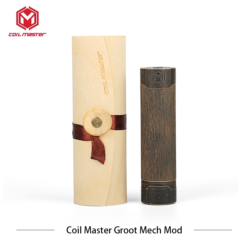 Bobine maître Groot Mech Mod cigarro eletronico vaporizador 510 raccordement hybride 6 trous d'aération 24.8mm diamètres elektronik sigara
