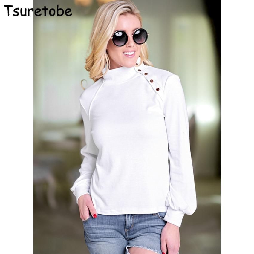 Tsuretobe New Autumn Winter Pure Color Casual Tops Women Bodycon Turleneck Elegant Tops T Shirt  Long Sleeve Fashion Tops Female