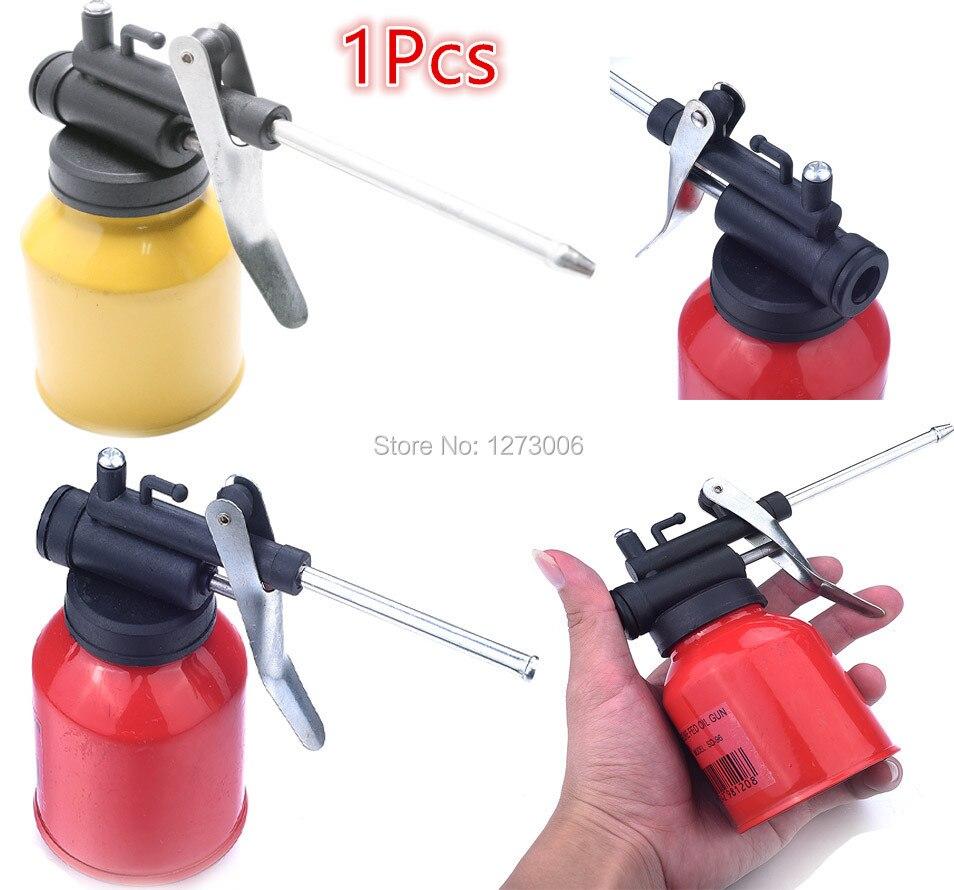 1pcs 250ml high pressure oiler pump cans oil hose machine for Spray gun for oil based paints