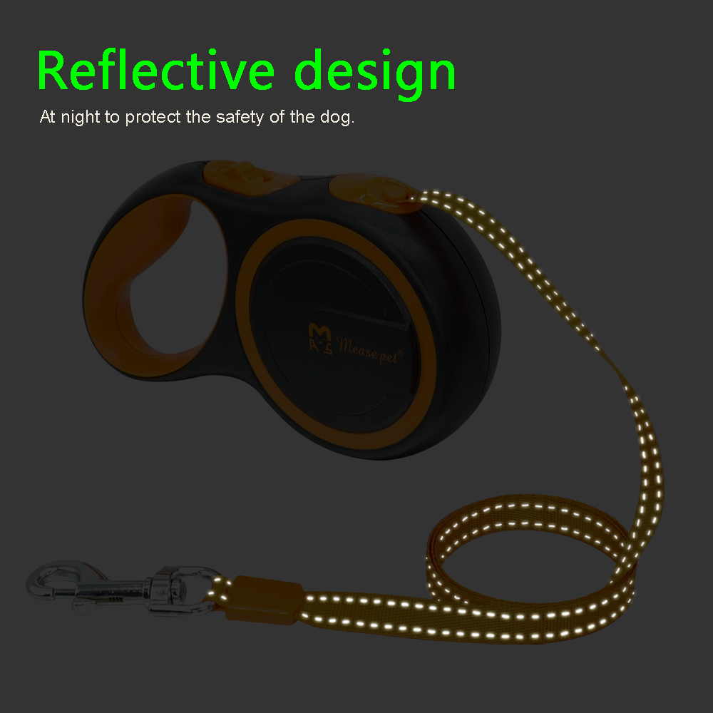 16ft Retractable Dog Leash Extending Reflective Dogs Leashes Austomatic Puppy Walking Leads 3M 5M For Small Medium Pet 28