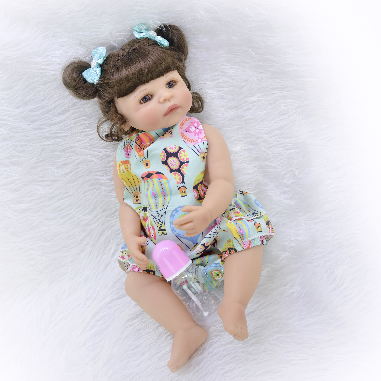 """22 """"55 ซม. ซิลิโคน Reborn Alive ตุ๊กตาอาบน้ำของเล่นวันเกิดของขวัญเด็กวัยหัดเดินตุ๊กตา Boneca house เล่น-ใน ตุ๊กตา จาก ของเล่นและงานอดิเรก บน   3"""