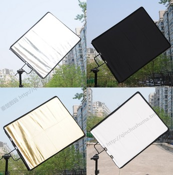Photography large size flag plate 90*76cm with black and white gold, silver, four color reflective plate, soft light CD50