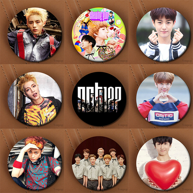 US $1 16 25% OFF|Aliexpress com : Buy Youpop KPOP Korean NCT U NCT 127 NCT  Dream NCTU NCT127 Metal 58mm Round Badge Pins And Brooches For Clothes Hat