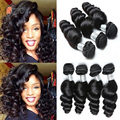 7A Brazilian Virgin Hair Loose Wave 4pcs Brazilian Curly Virgin Hair Brazilian Human Hair Weave Brazilian Loose Wave Virgin Hair