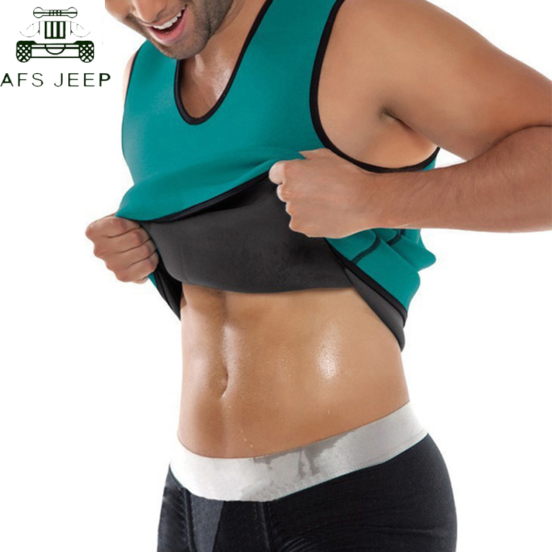 Slim Men Shapers <font><b>T</b></font>-<font><b>shirt</b></font> <font><b>Neoprene</b></font> Shaper Men Slimming male Vest Body Shaper Corset Waist Trainer Belt Super Stretch Shapewear image