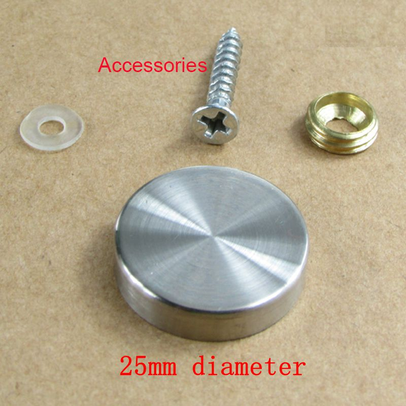 Us 8 5 20pcs 25mm Diameter Stainless Steel Round Mirror Clips Decorative Screw Covers Caps In Grommets From Home Improvement On Aliexpress Com
