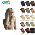 Human Hair Clip In Extensions 19 Color Indian Remy Real Human Hair Extensions Clip ins 7pcs Hot Promotion Hair 2016 Best  Hair