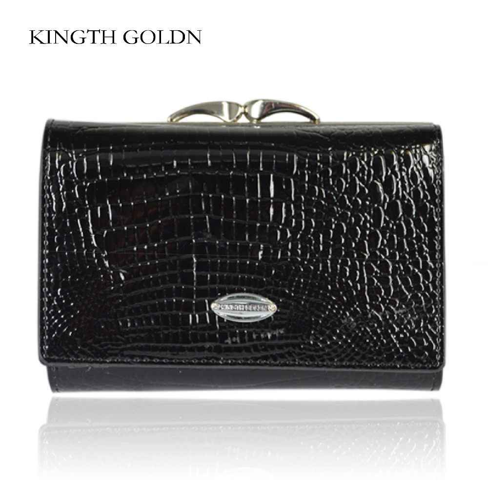 KINGTH GOLDN Wallet Female Short Design Genuine Leather Women Wallet Brand Small Women Purse Ladies Coin Purse Card Holder