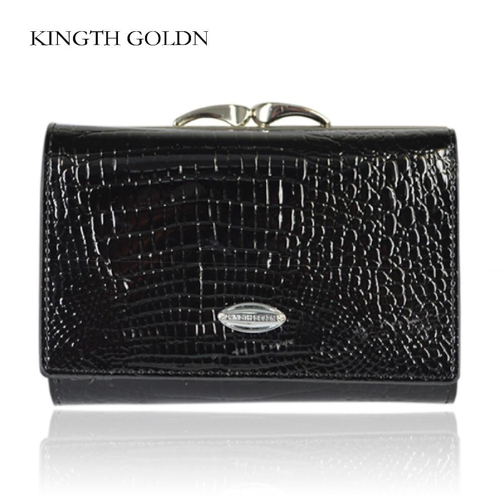 KINGTH GOLDN Wallet Female Short Design Genuine Leather Women Wallet Brand Small Women Purse Ladies Coin Purse Card Holder