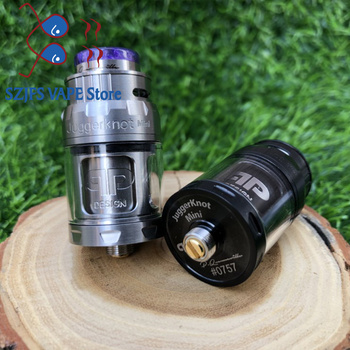 RTA Atomizer QP Mini Juggerknot Style 24mm  Rebuildable Vape Tank Top Airflow Coil Design Dual/Single Coil for 510 e Cigarette смартфон samsung galaxy s8 sm g950f 64gb жёлтый топаз