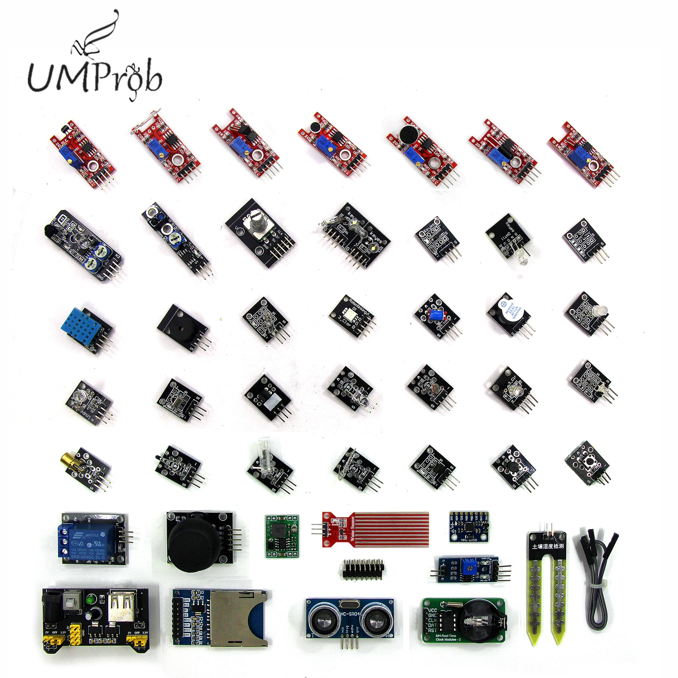 45 em Módulos de Sensores 1 Starter Kit para arduino, melhor do que o Kit Sensor de sensor kit 37 em 1 37in1