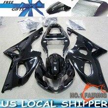 ZXMT Customize Glossy Balck ABS Injection Bodywork Motorcycle Fairing Kit For Suzuki GSXR1000 K1 2000-2002 UV light curing paint