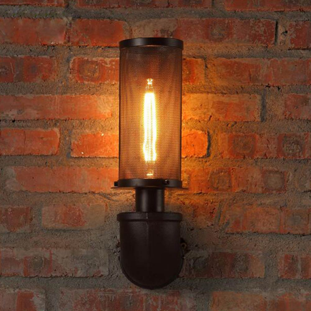 Water Pipe Wall Lamps Vintage American Country Mesh Cover Industrial Retro Wustic Wall  Warehouse Sconce for Home Lighting Light water pipe wall lamps vintage american country mesh cover industrial retro wustic wall warehouse sconce for home lighting light