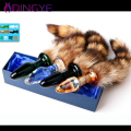 Fox Tail Glass Prosate Massager Anal Sex toys Fox Tail Anal Plug Tail Gay Sex Toys