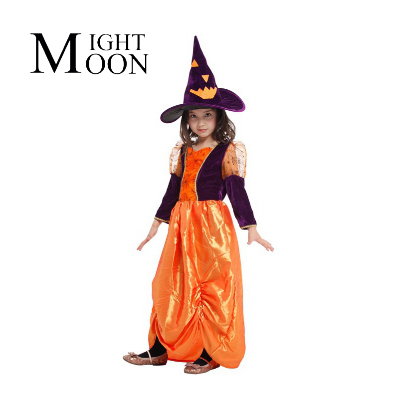 MOONIGHT Children's Halloween Costume Costume Cute Pumpkin Costume Witch Witch Princess Dress Cosplay