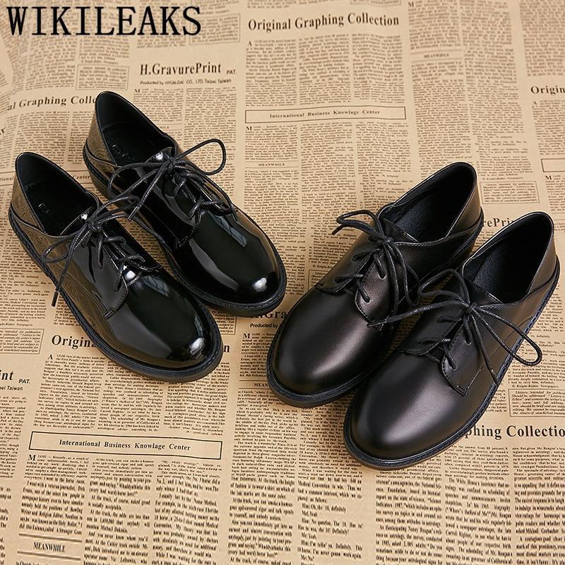 Leather Shoes Women Comfortable Korean