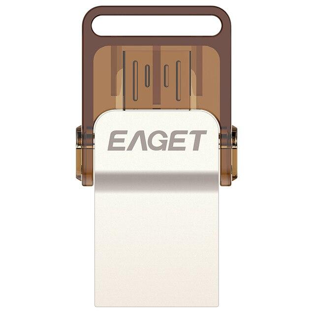 Eaget v9 100% 32 gb tablet telefone inteligente pc usb flash drives OTG armazenamento externo micro 32G memory stick pen drive Frete grátis
