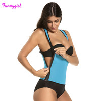 Newest Sexy Women Neoprene Body Shaper Slimming Waist Slim Belt Vest Underbust Sexy Zipper Bandage Shapers