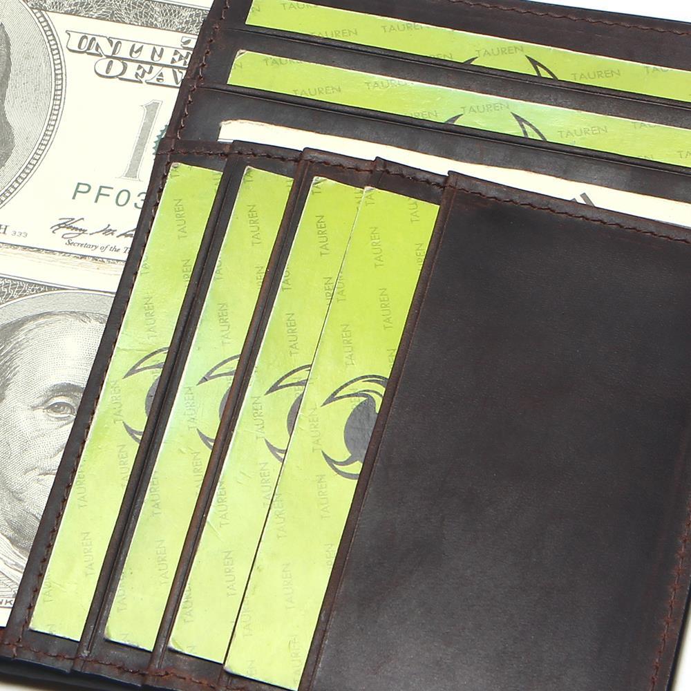 Tauren Crazy Horse Leather Passport Cover Retro Business Card ...