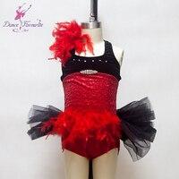 Sparking red sequin spandex top bodice girl ballet tutu stage performance ballet costume ballerina dance tutu