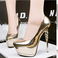 party shoes gold pumps wedding shoes women pump extreme high heels black platform shoes silver heels women shoes heels X321