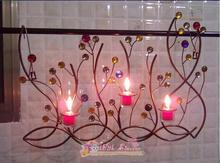 The hanging wall act the role ofing, wrought iron candles Creative three-dimensional of ornaments