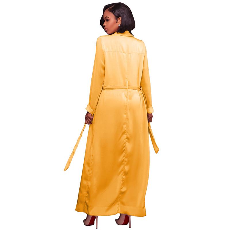 autumn chiffon sleeve long trench outwear-3