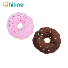 13Cm Sightly Pet Chew Cotton Donut Play Toys Lovely Dog Puppy Cat Tugging Squeaker Quack Sound Toy