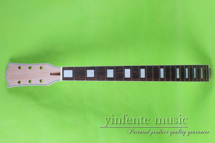 22 frets 24.75 LP One electric guitar neck mahogany wood and rosewood fingerboard black color 24 frets holt on one electric guitar neck mahogany wood and rosewood fingerboard 171