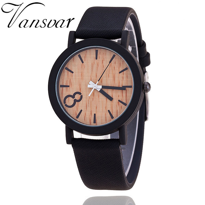 2016 Simulation Wooden Relojes Quartz Women Watch Casual Wooden Color Leather Strap Watch Wood Male Wristwatch Relogio Masculino jubaoli rotatable bezel male watch quartz leather strap wristwatch