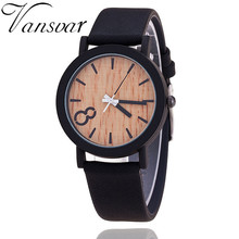 2018 Simulation Wooden Relojes Quartz Women Watch Casual Wooden Color Leather Strap Watch Wood Male Wristwatch