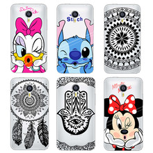 Phone Case For Meizu MX5 MX4 M2 note Soft TPU Transparent Mickey Minnie Black Floral Paisley