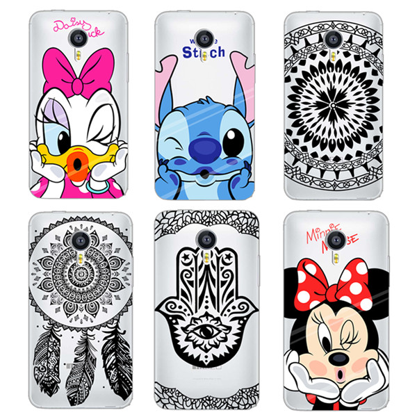 Phone Case For font b Meizu b font MX5 MX4 M2 note Soft TPU Transparent Mickey