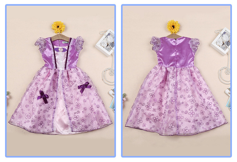 Image 4 - Girls Party Dress Kids Cinderella Snow White Halloween Costume Baby Girl Princess Dress Christmas Rapunzel Aurora Belle Dress-in Dresses from Mother & Kids