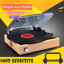 Music Hall 3-Speed Home Turntables LP Vinyl Modern Recorder Retro Phono Player Built-in Stereo Speakers