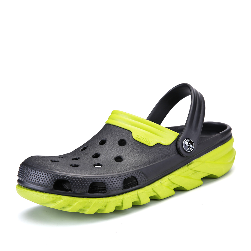 Brand Big Size High Quality Croc Men Garden Aqua Clogs 2018 Male Band Sandals Summer Black Beach Swimming Shoes Nest Shoes