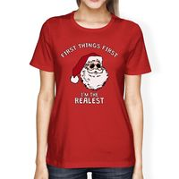 Realistic Santa Red Women S T Shirt Christmas Gift Funny Shirt Femme Hipster Brand Fashion Harajuku